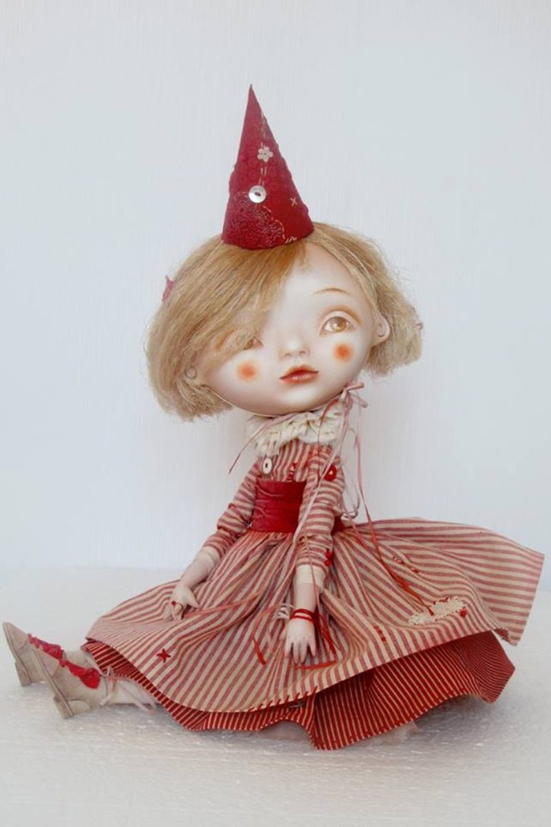 """Petrushka's Girlfriend"" - art doll by Anna Zueva"