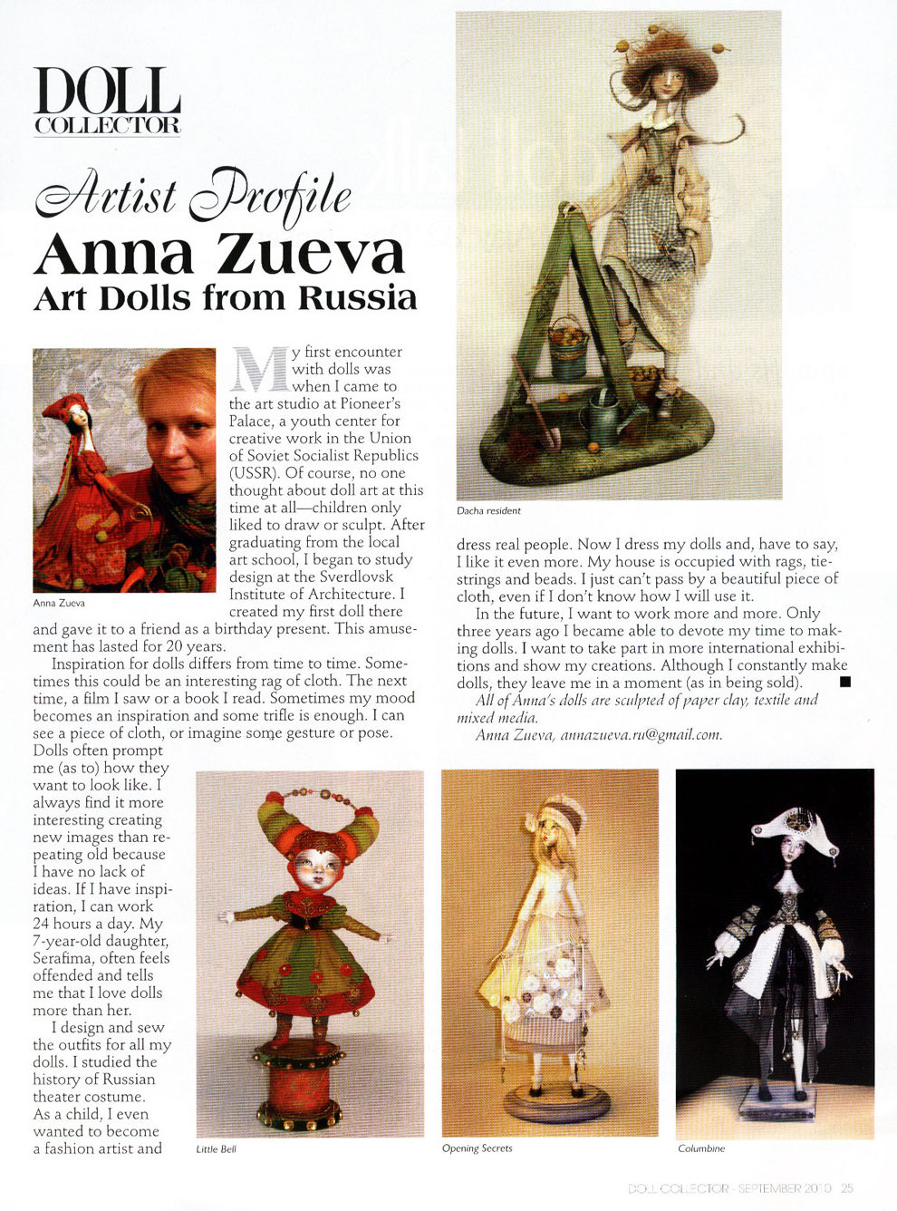 Anna Zueva. Artist Profile - Contemporary Doll Collector