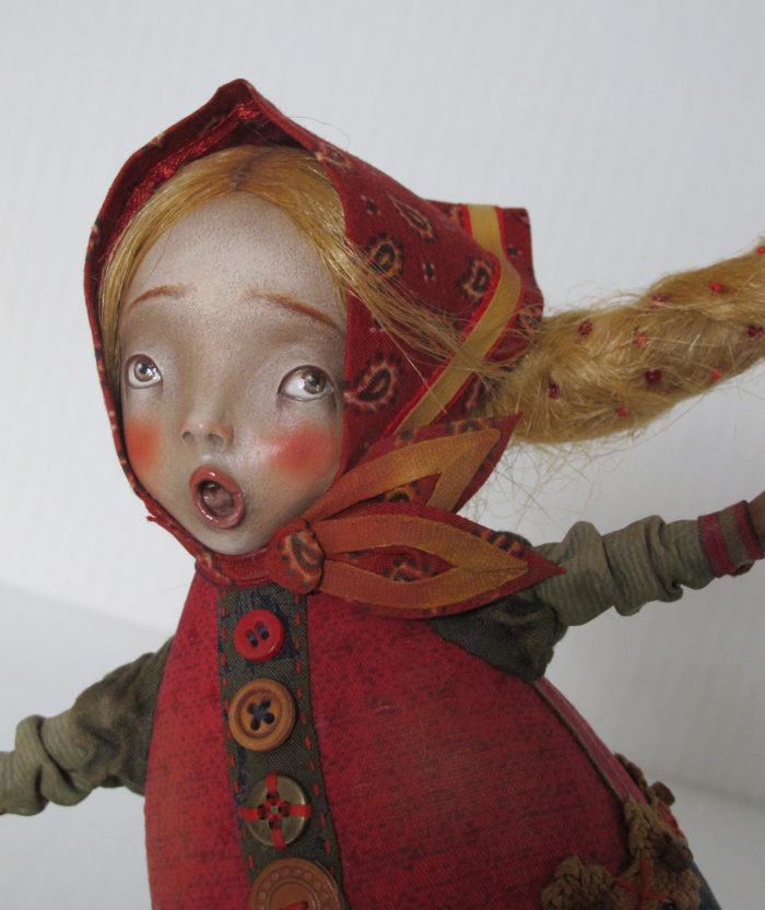"""A be-a-a-ar!!!"" - original handmade doll by Anna Zueva"