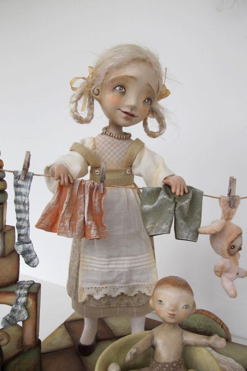 """The Big Wash"" - Original art doll by Anna Zueva."