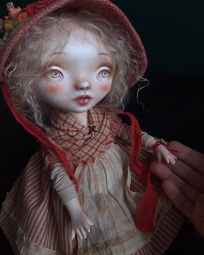 Little Greta - art doll by Anna Zueva