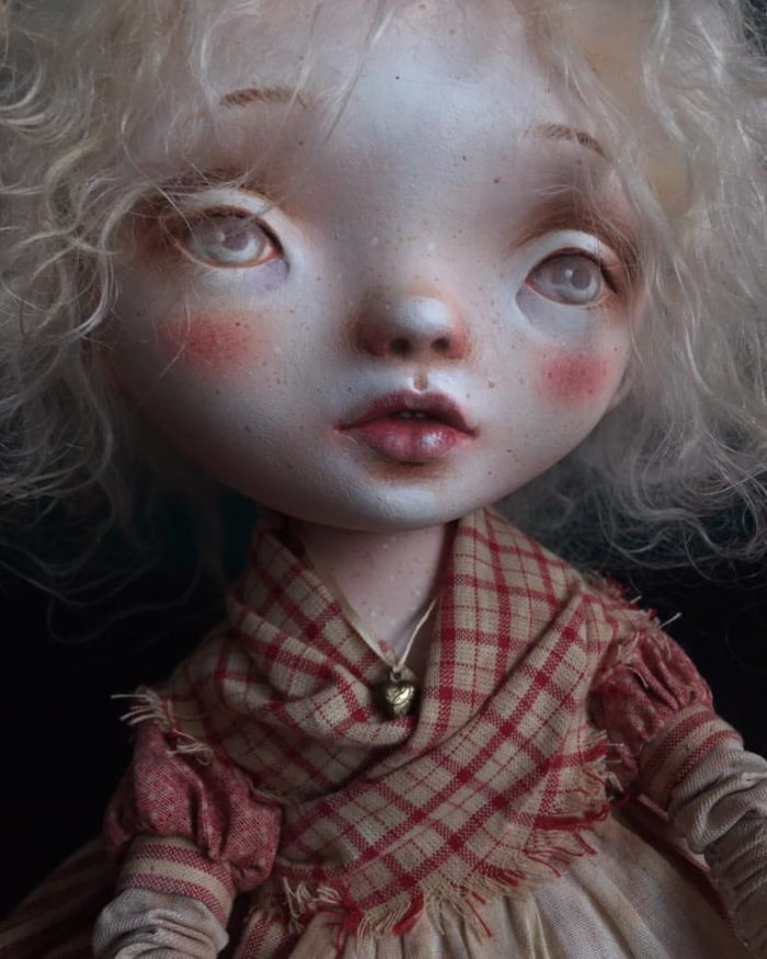 Little Greta - art doll by Anna Zueva