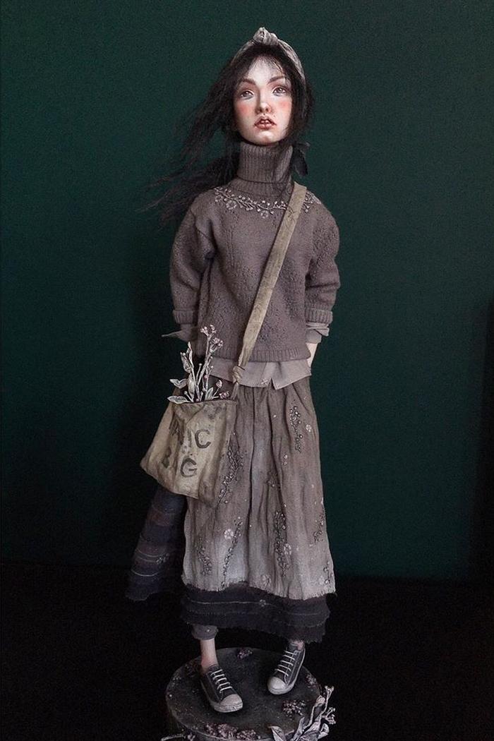 Nora - art doll by Anna Zueva