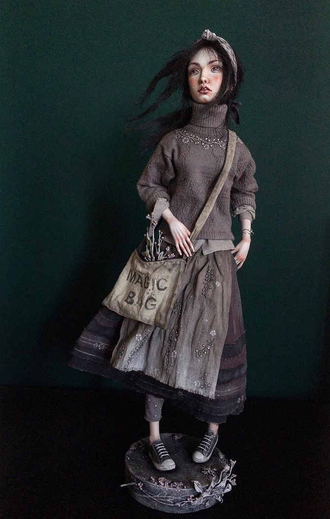 Nora - art doll by Anna Zueva