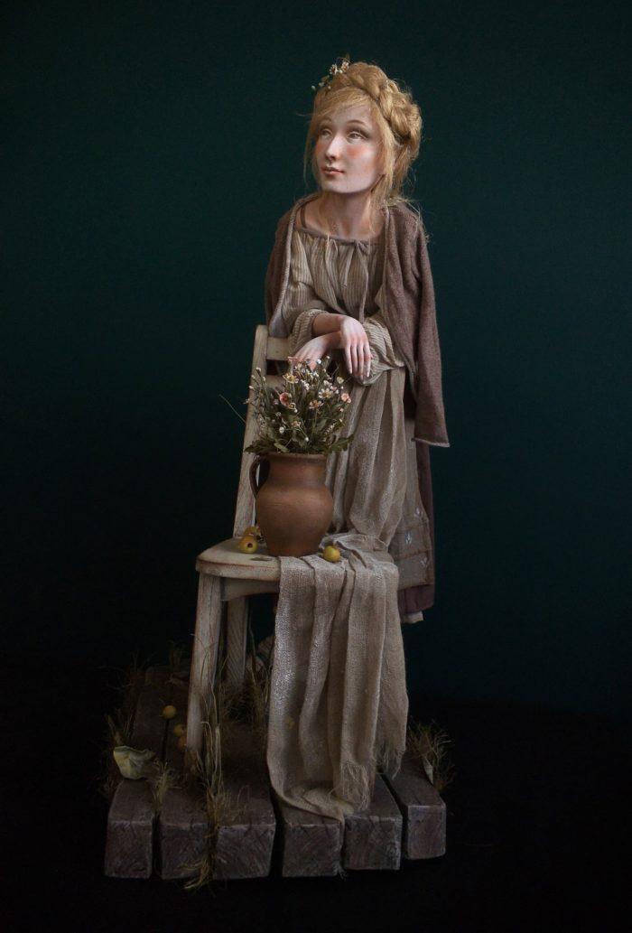 Ula - art doll by Anna Zueva